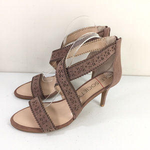 New Sole Society 10 Venus High Heel Sandals taupe